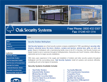 Tablet Preview of oaksecuritysystems.co.uk